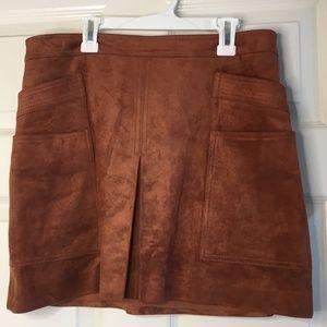 NWT Faux Suede BCBGMaxAzria Mini Skirt